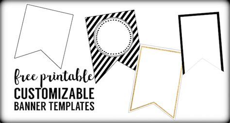 Free Customizable Printable Banner Templates | free printable banner templates blank banners paper