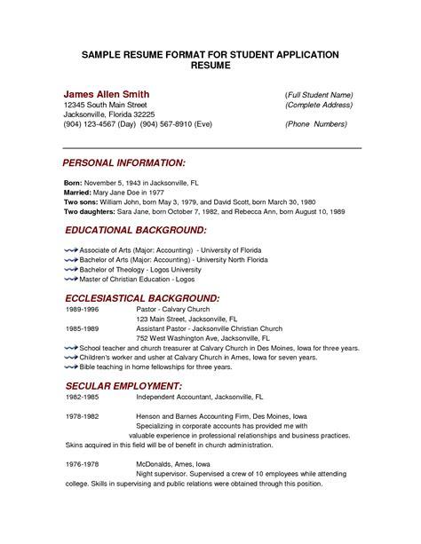 College Resume Format by College Resume Format Resume Template Easy Http Www