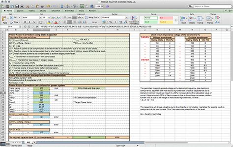 Electrical Engineering Excel Spreadsheets by 28 Electrical Engineering Excel Spreadsheets Power