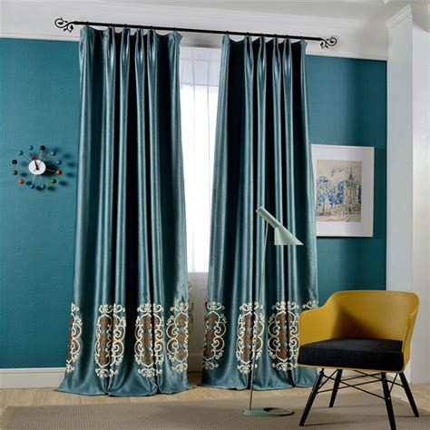 decorative screens for living rooms home textile velvet cloth embroidered blackout curtains for living room bedroom bbalcony