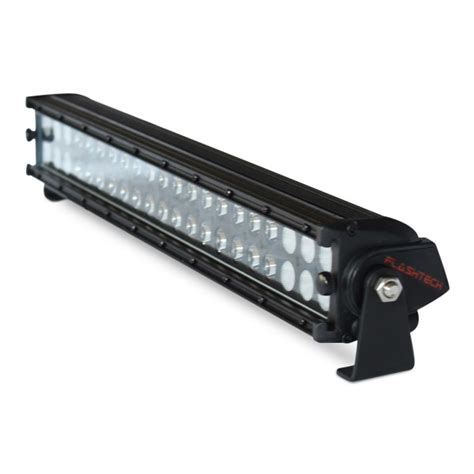 21 Led Light Bar Flashtech Black Led Light Bar Dual Row 21 Inch