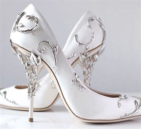 white silver high heels wedding shoe white wedding shoes wedding