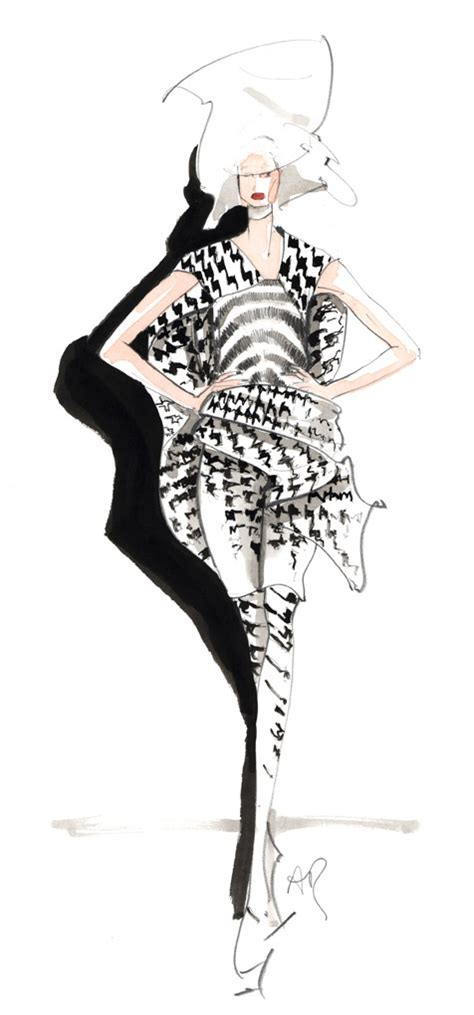 fashion illustration mcqueen mcqueen autumn winter 09 10 fashion