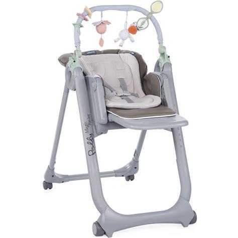chaise haute des la naissance chaise haute polly magic relax 4 roues dove grey de chicco