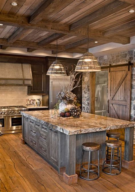 Oversized Island Custom Cabinetry Kitchen Cabinets Rustic Kitchen Island Ideas