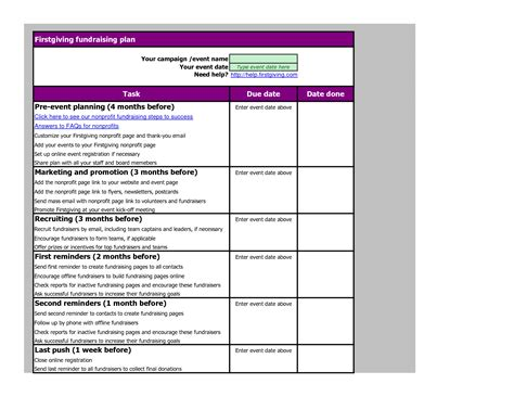 event marketing plan template template design