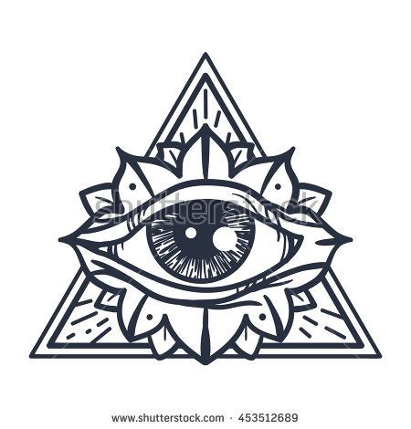 magic tattoo logo vector all seeing eye stock images royalty free images vectors