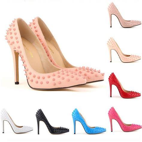 brand designer high heels bottoms pointed toe pumps