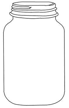 jar template jar with flowers clipart black and white jar