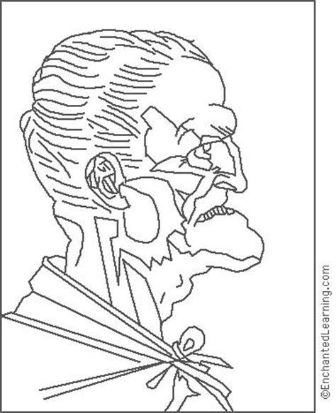 leonardo da vinci old man coloring page
