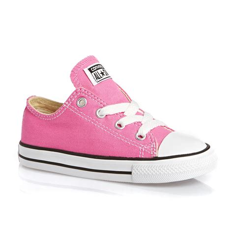 converse all ox toddler shoes pink free uk delivery