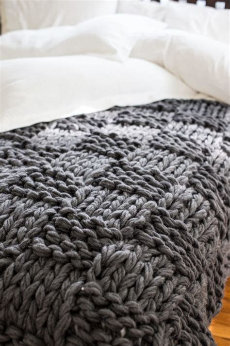 Pattern Arm Knitting | chunky arm knit blanket pattern flax twine