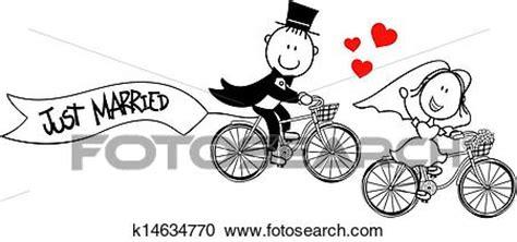 sposi clipart clipart divertente sposa sposo su biciclette