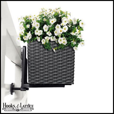 planters for deck rails cottage weave deck rail planter box