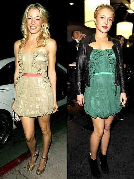 Who Wore It Better Hayden And In The And Sequin Stripe Dress by Style Showdown Leann Rimes Vs Hayden