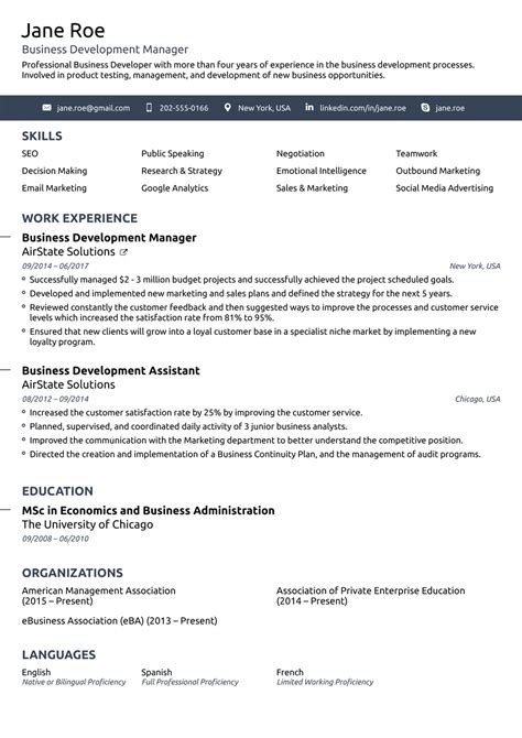 basic one page resume simple format best resume templates