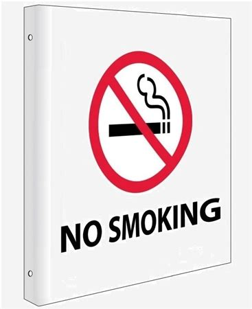 no smoking sign with stand no smoking 2 way double sided flange signs