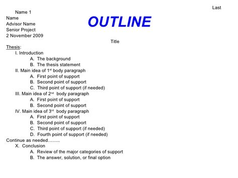 how to write a college paper outline term paper outline wolf