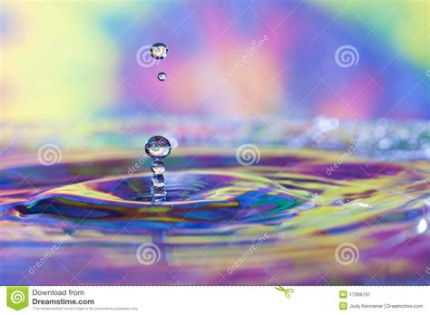 colorful water colorful water drops and splash royalty free stock