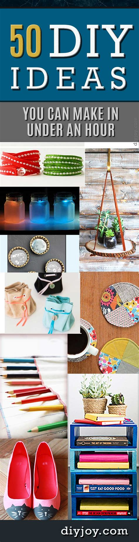 easy and clever diy projects 50 diy projects you can make in an hour diy
