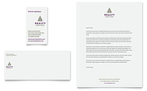 Rent A Letterhead Realty Services Business Card Letterhead Template Design