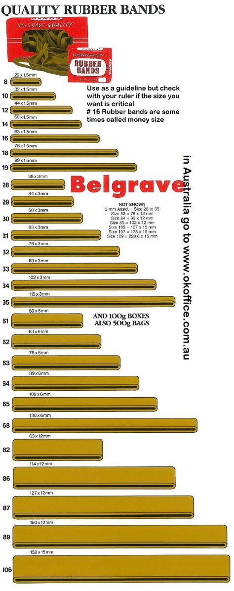 rubber st size guide rubber band size chart american rubber bands ayucar