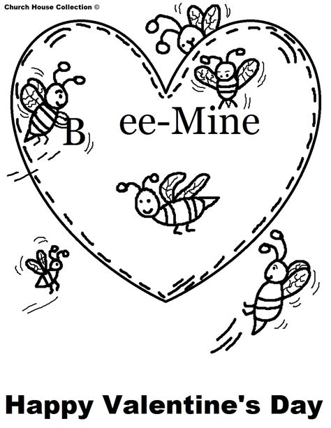 valentines day coloring page church house collection s day coloring