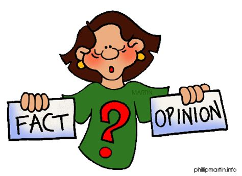 Opinion Clipart fact or opinion clipart