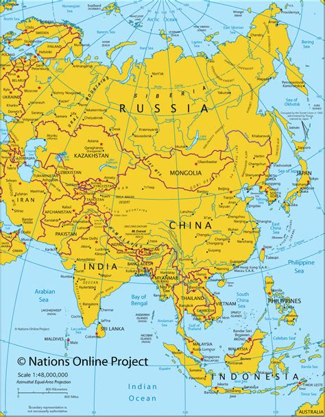 asia s map of asia political map of asia nations online project