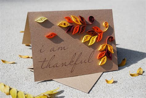Handmade Thanksgiving Cards - items similar to handmade fall thanksgiving card quilled