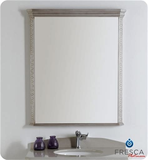 silver bathroom mirrors fresca platinum fpmr7524sa london 32 quot bathroom mirror in antique silver w fog free system