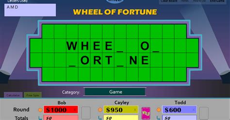 wheel of fortune template tim s slideshow wheel of fortune for powerpoint