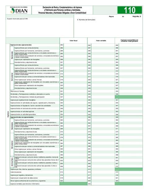 cartilla declaracion renta personas juridicas 2016 formulario declaracion renta 2016 formulario declaracion