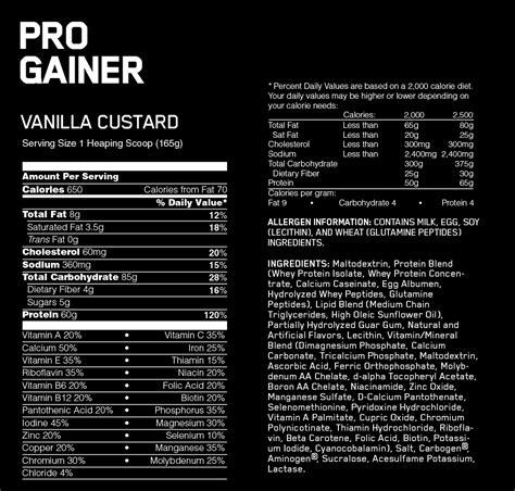 Suplemen Gainer pro gainer optimum nutrition suplemen fitness bpom resmi
