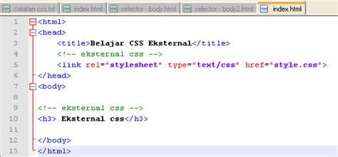 contoh layout web dengan css dasar css part 1 cangkrukdesign
