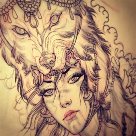 tattoo girl animal head 132 best images about tattoos on pinterest