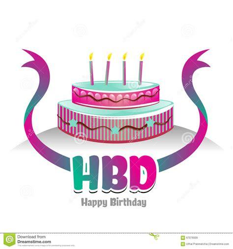 happy birthday 3d logo design happy birth day logo symbol with cake design stock vector