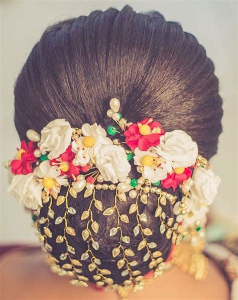 Indian Wedding Hairstyles With Flowers by Indian Hairstyles With Flowers Hairstyles