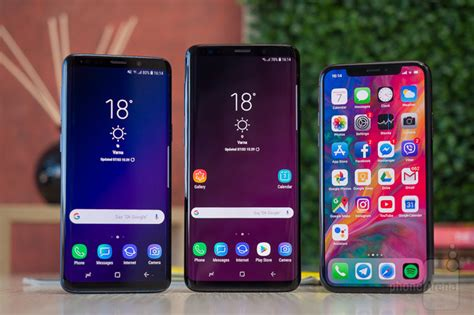 samsung galaxy s9 and s9 vs apple iphone x phonearena