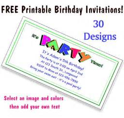 free printable invitations for