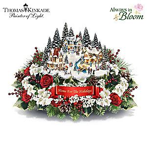 kinkade centerpiece kinkade always in bloom home for the holidays table