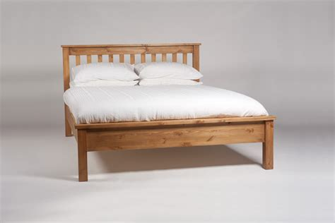 White Wooden King Size Bed Frame Cheap King Size Wood Platform Bed Frame With White Mattress And Pillows Decofurnish