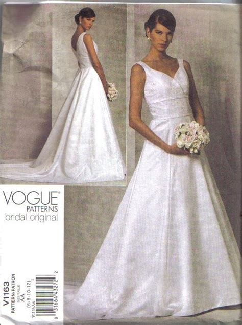 Wedding Gown Patterns by Oop Bridal Original Vogue Sewing Pattern Wedding Gown