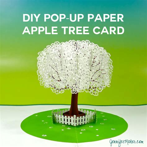 Templates For Apple Pop Up Card by Pop Up Paper Apple Tree Card 3d Sliceform Maker