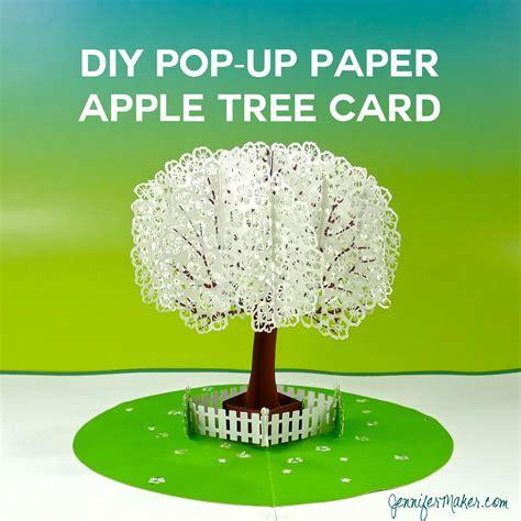 templates for apple pop up card pop up paper apple tree card 3d sliceform maker