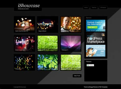 showcase blogger template blogger themes and blogger