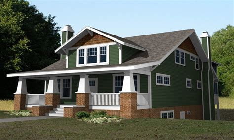 single story craftsman bungalow house plans