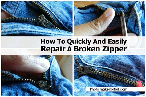 how to quickly and easily repair a broken zipper