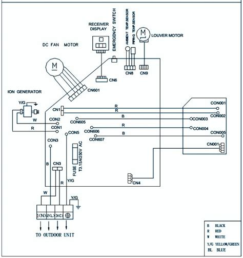 lg window air conditioner wiring diagram lg washing
