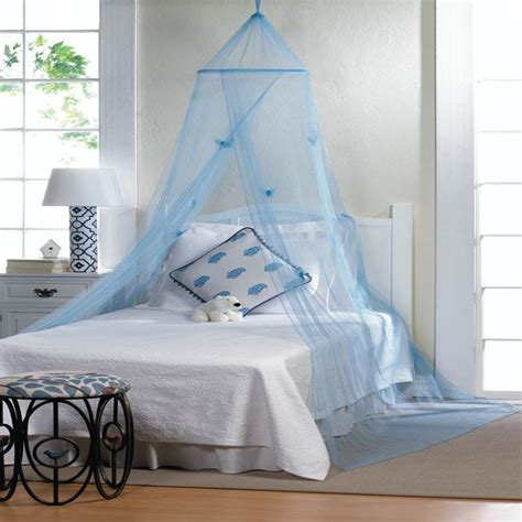 Hanging Bed Canopy Blue Hanging Hoop Netting With Butterflies For Baby Boy Bed Crib Canopy Ebay